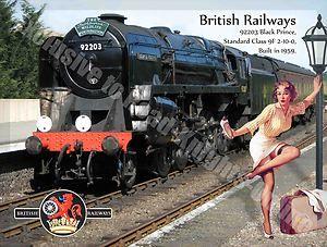 Black Prince 92203, Steam Train, British Rail, Pin Up Girl, Small Metal/Tin Sign   eBay