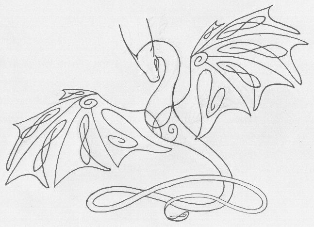 Celtic Knotwork Wyvern by ~shiari on deviantART