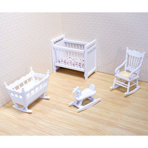 Melissa and Doug Victorian Nursery Furniture Set - 1 in. Scale | www.dollhousesgalore.com  Visit us: missdollhouse.com #minifurniture