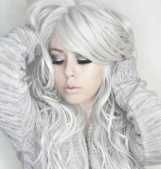 White silver ha...