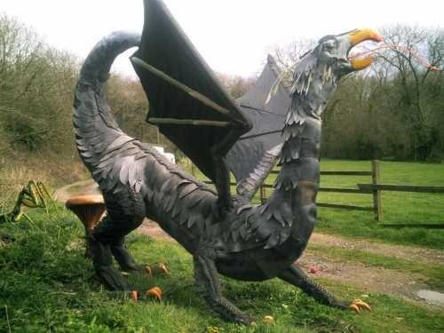Recycled Materials Garden Sculpture By Artist Chris