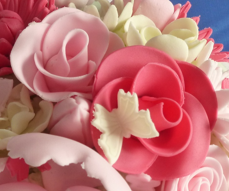 Suikerpasta bloemen