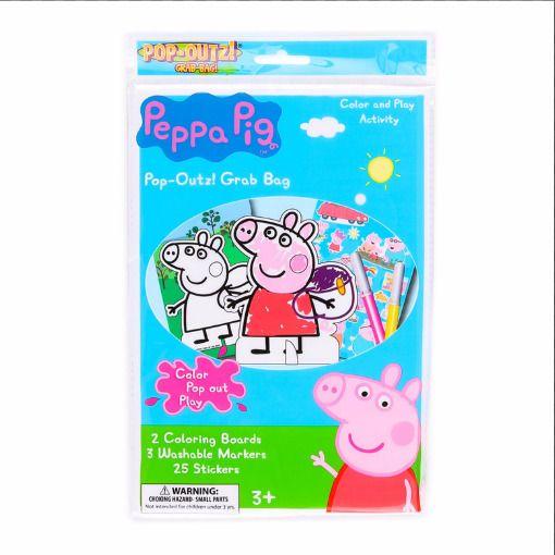Peppa Pig Christmas Set Pop-Outz Grab Bag, Mold-N-Play Maker wit Mini Tin Puzzle #Cardinal