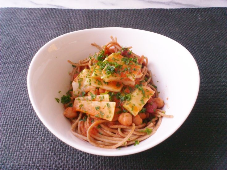 Homemade mixed beans & kohlrabi tomato sauce buckwheat pasta! #vegan #organic #glutenfree #healthyeating #nutrition #food
