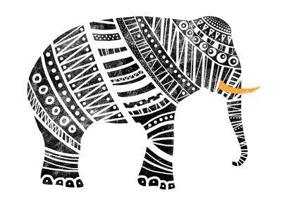 Endangered elephant print