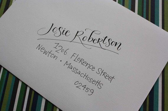 Calligraphy & Hand Addressed Envelopes by inkybug on Etsy, $2.00