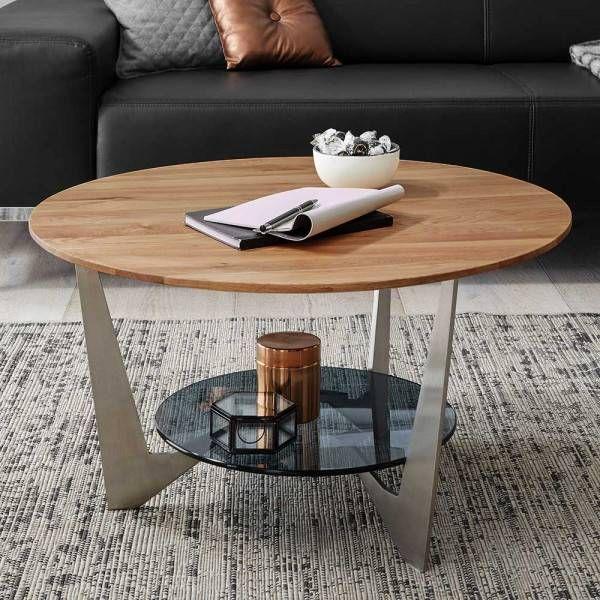 Wl5 362 Wohnling Couchtisch Rund Bellary Aus Recyceltem Sleeper Wood Und Eisen Wohnzimmer Fernsehen Metall Holz Ablage Wohne Furniture Decor Small Tables