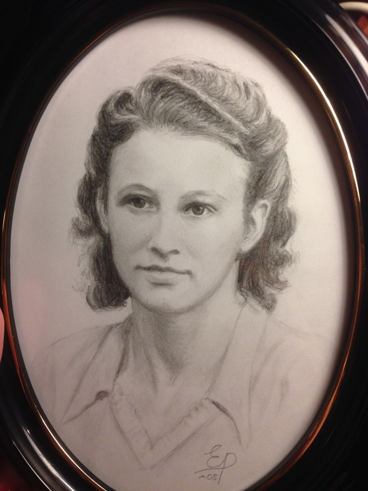 porträtt i blyerts