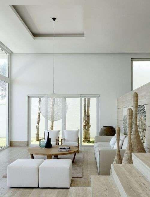 Idee per arredare un salotto moderno - Salotto nelle tonalità chiare