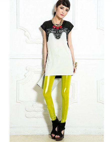 Candy Color lemon yellow leggings Pants