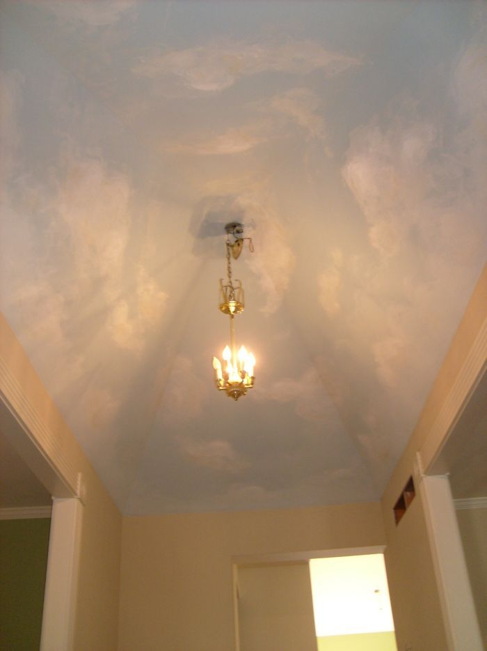 111 best images about sky on my ceiling on pinterest for Cloud mural ceiling