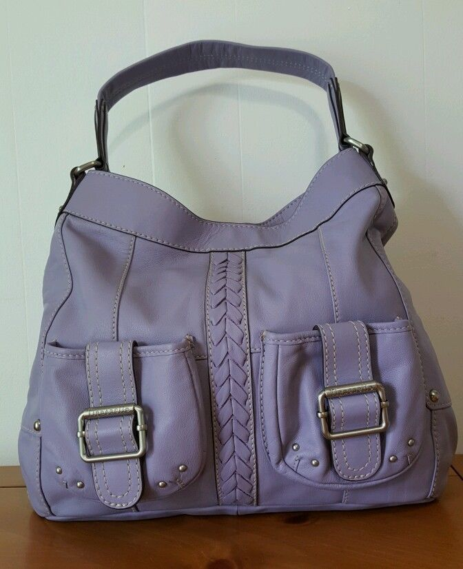 Tignanello Handbag Lilac Purple Hobo with Braided Front with 2 Pockets New | eBay