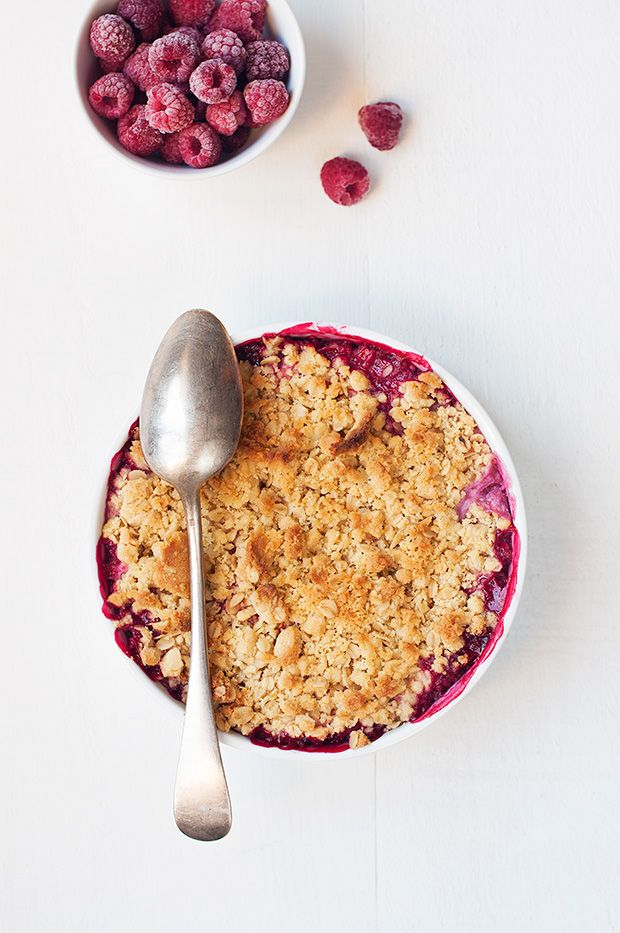 raspberry apple crumble.