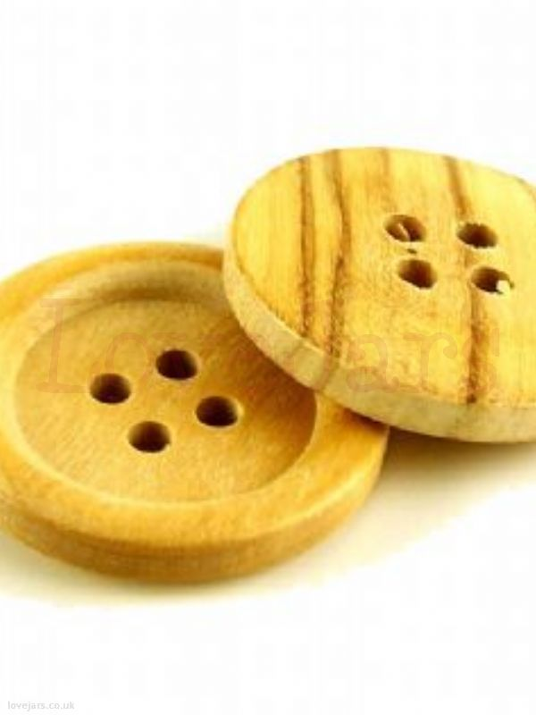 We love Round Wooden Jumbo Button [2] - find them in our online shop under Rosie's Pantry: Jarcessorise, Buttons
