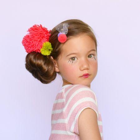 hello shiso double pom hair clip
