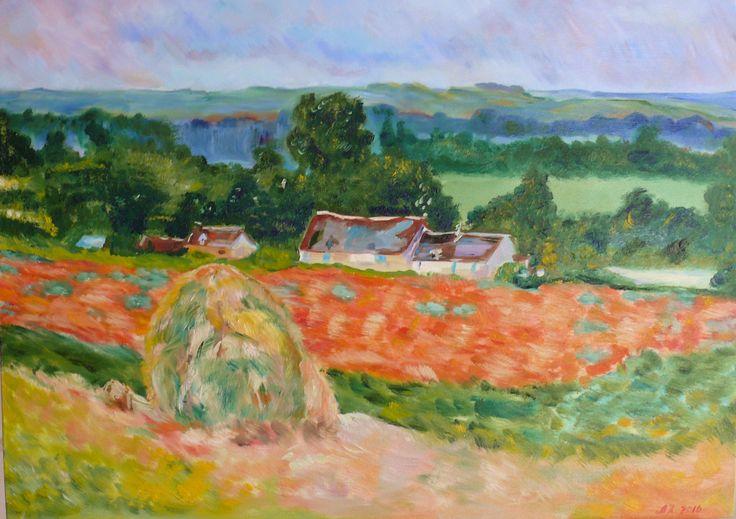 C. Mone, Haystack. free copy Oil on canvas 50*70