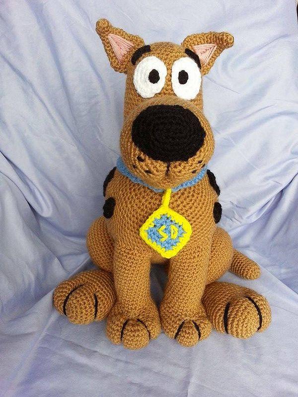 14 inches tall crochet Scooby Doo! https://www.etsy.com/shop/MammaBearCreations?ref=hdr_shop_menu https://www.facebook.com/BeautifulBears4U