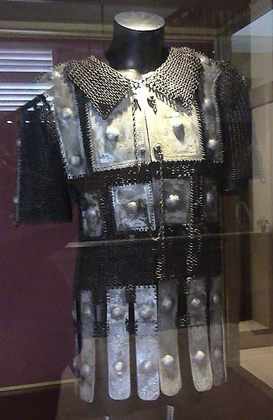 Bugis mail and plate armor (baju zirah Bugis), Kota Ngah Ibrahim Museum (Perak, Malaysia). The Buginese people are an ethnic group, the most numerous of the three major linguistic and ethnic groups of South Sulawesi, in the southwestern province of Sulawesi, third largest island of Indonesia.