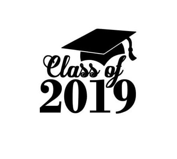 Class of 2019 Graduation Instant Download Cut File for Cutting Machines - SVG DXF EPS ps Studio3 Studio