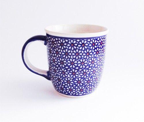 Mug 0.35l  #flowers #bunzlau #polishpottery #pottery #ceramics #boleslawiecpottery #boleslawiec #mugs #mug #bubblemug #polish #daisy