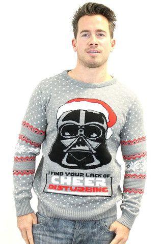 Star Wars Official Darth Vader Knitted Christmas Jumper - BAY 57  - 1
