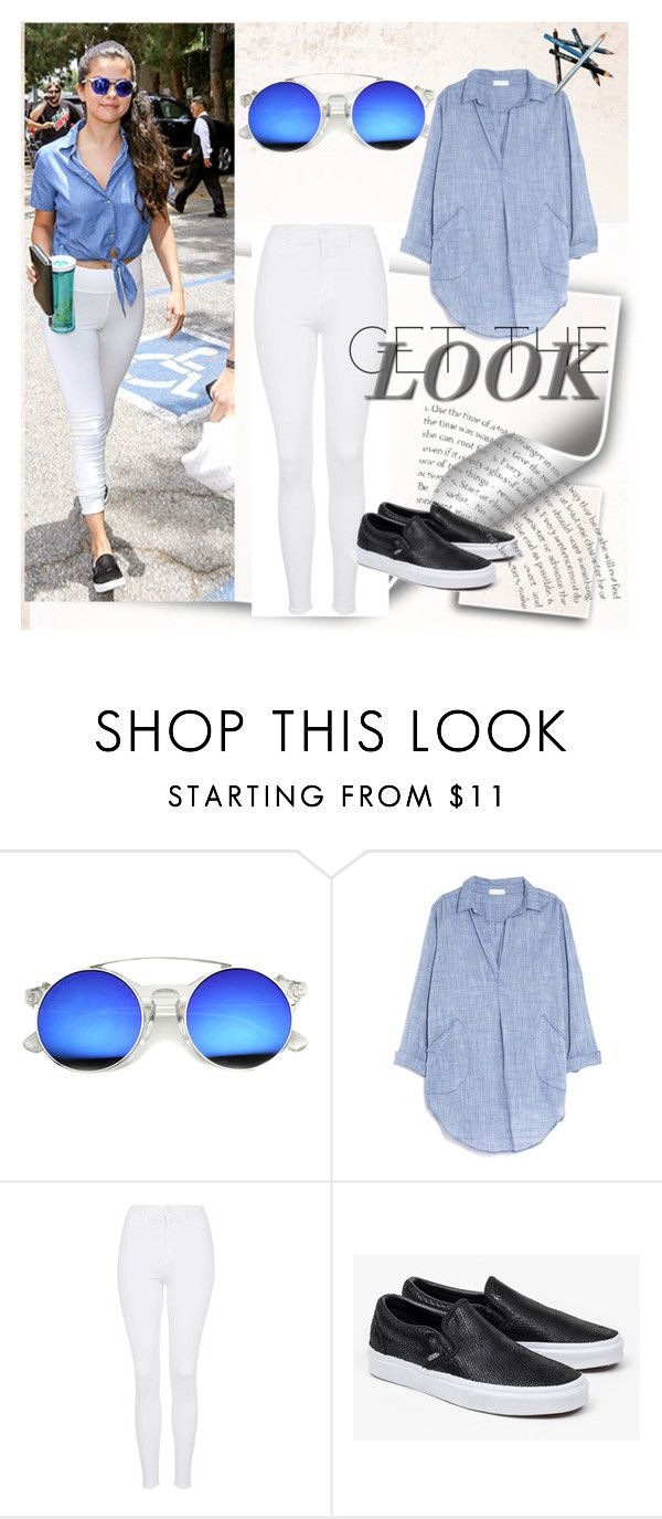 """Get the look"" by any-dazaperez ❤ liked on Polyvore featuring CP Shades, Topshop, Vans and Styli-Style"