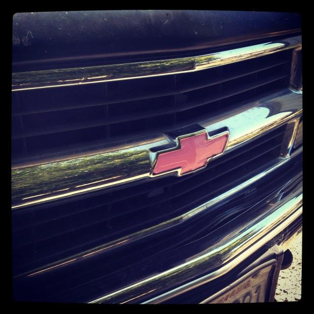My New Pink Chevy Emblem