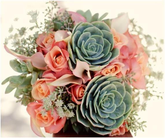 Bouquet de noiva com suculentas 3