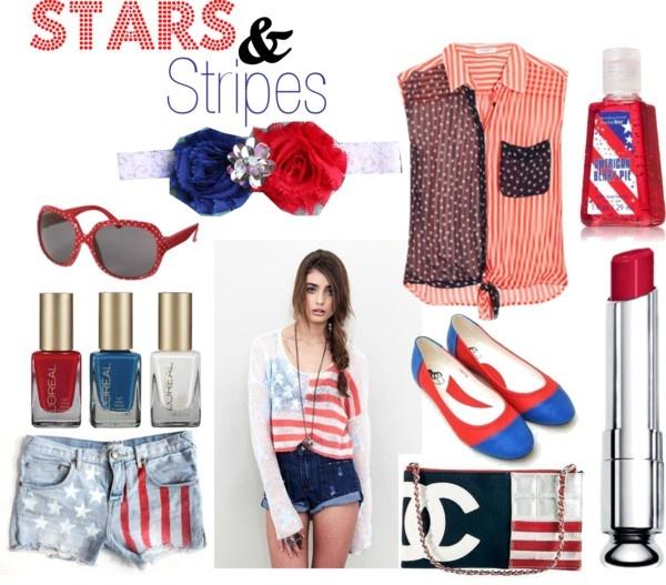 """Stars & Stripes"" by sarahtheginger on Polyvore"