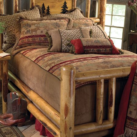 Head To Black Forest Decor Right Now And Experience Special Discounts Up To  On Rustic Beds, Which Includes This King Size Rocky Mountain Log Bed!