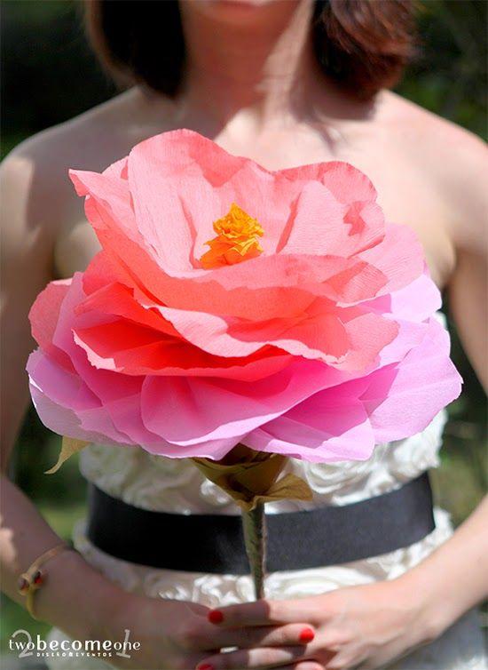 DIY Paper Flower XXL  2become1 - Design&Events
