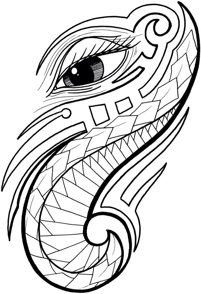Tribal art coloring pages ~ 14 best Hawaiian Tribal images on Pinterest | Hawaiian ...