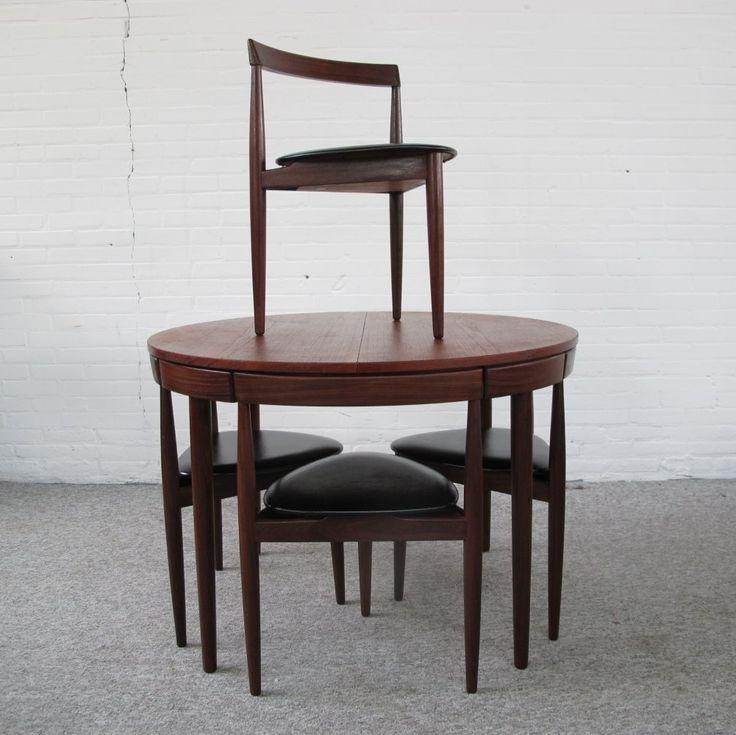 For Sale Roundette Teak Dining Set By Hans Olsen For Frem
