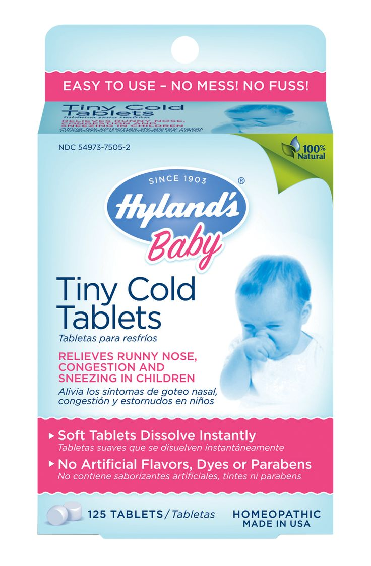 Hylands Baby Tiny Cold Tablets Baby Cold Remedies Sick