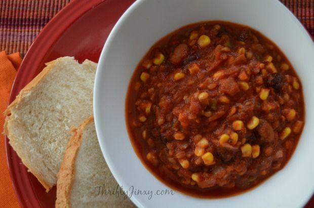 Vegetarian Crockpot Chili with Bulgur Wheat Recipe