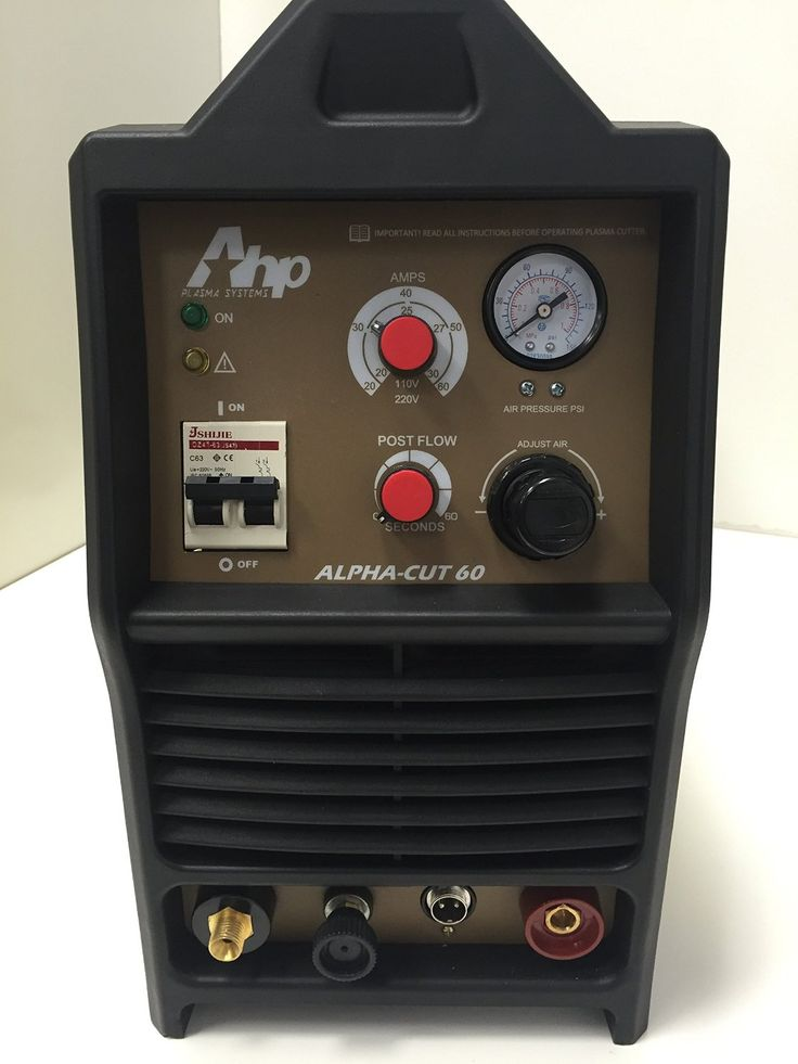AHP AlphaCut 60 60 Amp #PlasmaCutter, 60 Amps of professional cutting power, Blow-back start technology, Pilot Arc, 10/220 voltage comes with adapter to take machine from 220v to 110v quickly with the snap of a plug