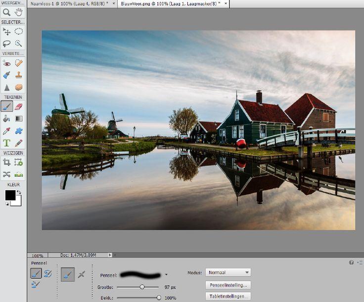 Een blauwe lucht met Photoshop Elements | Cursussen | Zoom.nl