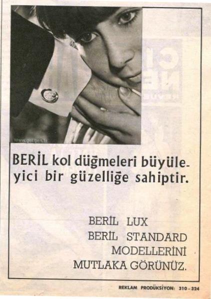 1960lar Beril Kol Düğmeleri