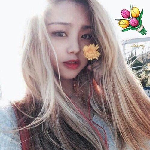 girl, blonde, and korean girl image