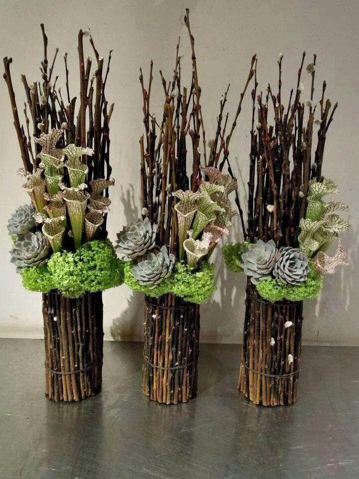 Раз веточка, два веточка, или Как оригинально украсить интерьер - Ярмарка Мастеров - ручная работа, handmade