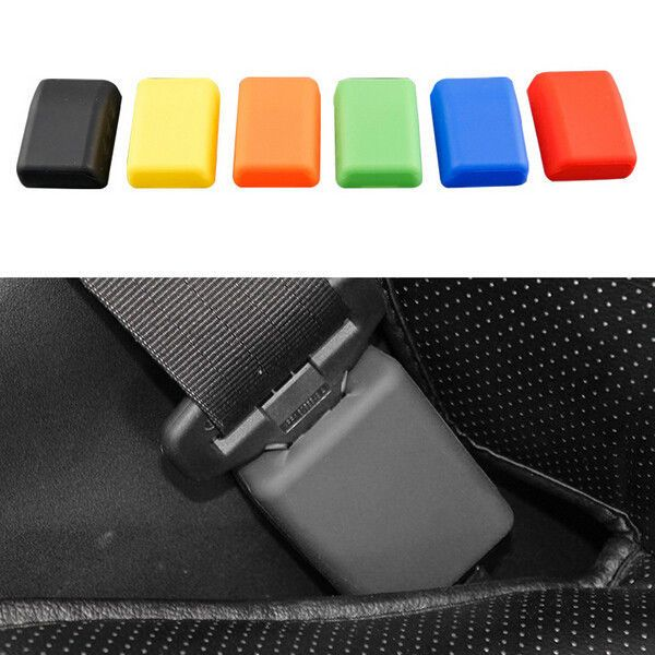 Car Safety Seat Belt Buckle Protective Cover Silica Prevention Case #UnbrandedGeneric