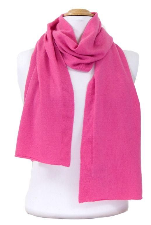 Echarpe rose blush en cachemire double fil J and W. Disponible en 15  couleurs sur fbe1a999006