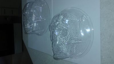 2 skull headlight covers that fit 7in. headlights for cars and trucks