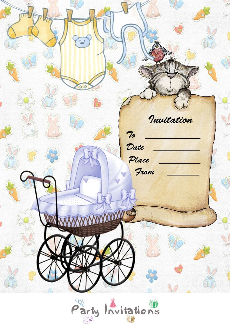touching gender reveal party invitations