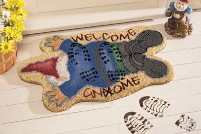 Trampled Gnome Coco Mat$6.97: Coco Mats, Sweet Gnomes, Gardens Gnomes, Welcome Mats, Gnomes Sweet, Front Doors, Doors Coco, Doors Mats, Front Porches