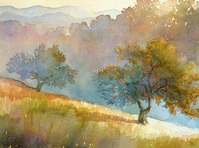 Znalezione obrazy dla zapytania watercolor landscape
