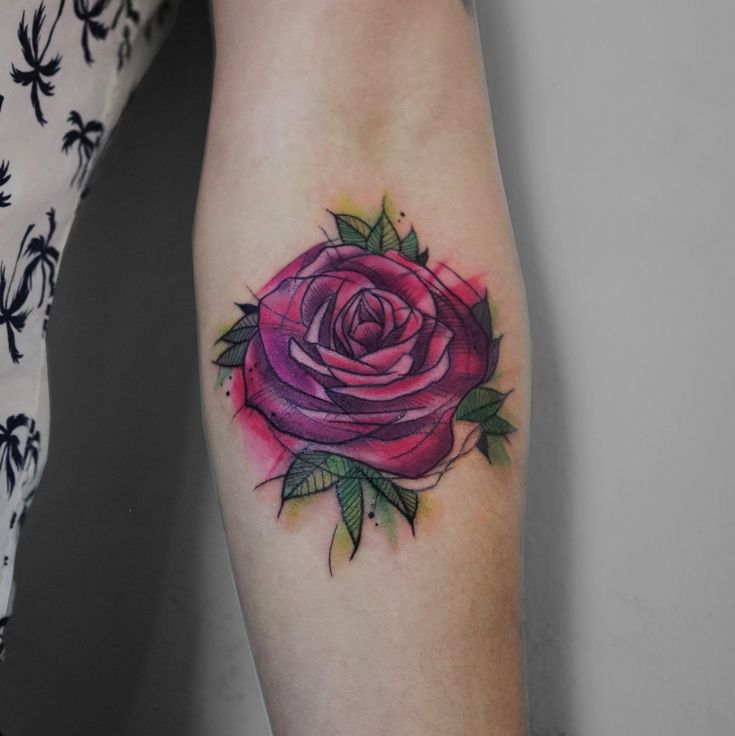 #rosetattoo #rose #rosy #collarbonetattoo #ankletattoo