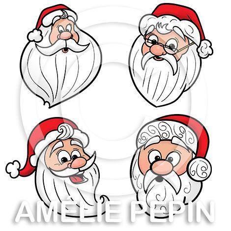 7 Pictogrammes de Père Noël / 7 Santa Claus Clip Art: http://www.ameliepepin.com/boutique/list/43