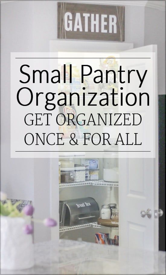 How to Organize a Small Pantry - Polished Habitat