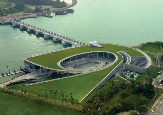 Marina Bay barrage in Singapore by Team 3 Architects